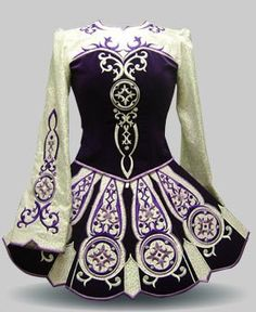 """""""Many Irish dance dresses are custom made for the wearer to wear during competition. It is a symbol of the culture of Irish dancing and of Ireland in general. Beginner dancers usually compete with a simple skirt and leotard combo, and it's very meaningful to get your first competition dress, to have a say in what colors and designs are specifically meaningful to you, and to represent your culture."""" From Elevation Design"""