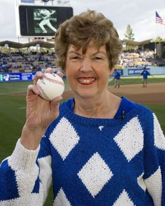 Los Angeles Dodgers organist Nancy Bea celebrates her 25th season with the Dodgers during game against the San Diego Padres Saturday, April 14, 2012 at Dodger Stadium in Los Angeles,California.