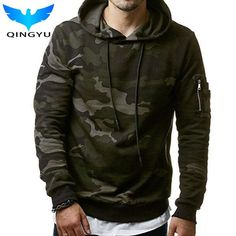 QINGYU 2017 New Mens Hoodies and Sweatshirts Hooded Sweatshirts Male Fashion Military… #BlackFriday is coming early #BestPrice #CyberMonday