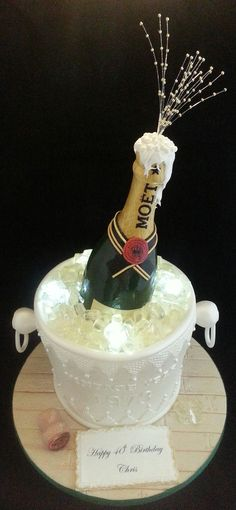 Moet Champagne Bottle & Ice Bucket Cake