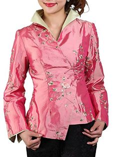 Daisy and Peony Embroidery Chinese Jacket (X-Small, peach... https://www.amazon.com/dp/B00KOGN0S4/ref=cm_sw_r_pi_dp_x_kINmybGN0CEHG