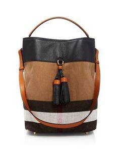 Burberry Medium Susanna Tassel Canvas Check Shoulder Bag Handbags - Hobos    Shoulder Bags - Bloomingdale s 31ca75f49db