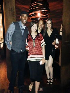 "After Dinner with #MontellJordan #CarlosKeyes #NanaGouvea #KristenJordan in New York. Check out Montell's New Book ""Becoming Unfamous"""