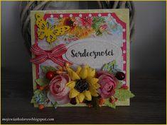 Mój świat kolorów...: Letnia kartka ...