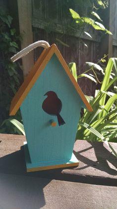 A Bird Within A Birdhouse Best Seller by GardenBright on Etsy Bird House Plans, Bird House Kits, Bird Houses Painted, Bird Houses Diy, Bird Houses For Sale, House Painting, Diy Painting, Birdhouse Designs, Bird Aviary