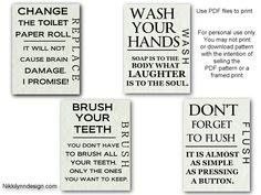 printables for bathroom printable bathroom wall art - Free Printable Bathroom Art
