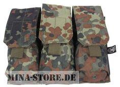 "mina-store.de - Magazintasche dreifach ""MOLLE"" Modular System  flecktarn"
