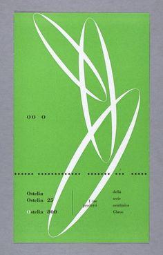 Carlo VivarelliOstelin, Ostelin 25, Ostelin 800-Gebrauchsgrafik