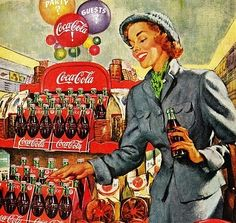 Old Coke Ad.  I love how vibrant the colors are.