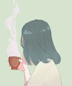 Find images and videos about art, anime and coffee on We Heart It - the app to get lost in what you love. Aesthetic Anime, Aesthetic Art, Manga Art, Anime Art, Character Illustration, Illustration Art, Illustration Inspiration, Drawn Art, Wow Art