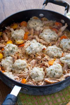 Chicken with Garlic and Herb Dumplings. Super comfort food!