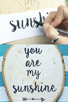 Here is an easy DIY, great for home decor or a gift! Learn how to paint on wood WITHOUT stencils! There are so many ways to decorate these wood slices.