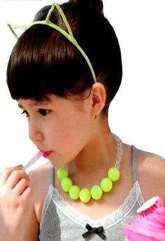 Bubble Gum Beads Necklace and Earrings Kids Jewelry