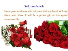 Amaze your loved ones with beautiful red roses.