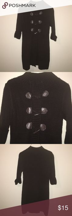 Take Out sweater top Dark brown sweater top, cuffed sleeves with collar. Take Out  Sweaters