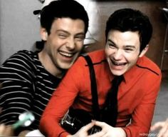 cory monteith and chris colfer | this is adorable.