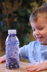 Recycled bottle Alphabet game