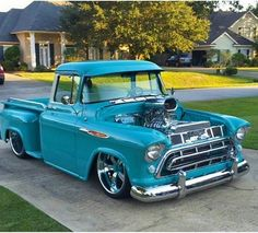 rat rod trucks and cars 57 Chevy Trucks, Custom Pickup Trucks, Classic Pickup Trucks, Old Pickup Trucks, Chevy Pickups, Chevy C10, Chevrolet Chevelle, 1957 Chevrolet, Cadillac