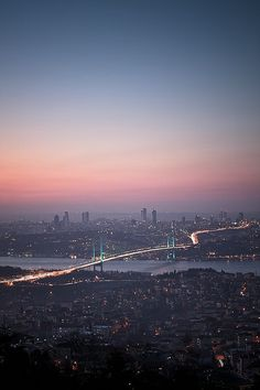 Bosphorus Bridge in Istanbul, the only city in the world to span two continents Most Beautiful Cities, Wonderful Places, Beautiful World, Hagia Sophia, City Photography, Nature Photography, Places To Travel, Places To See, Places Around The World