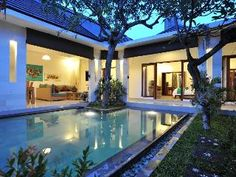 Seminyak villa with 3 bedrooms Bali Accommodation, Villas, Vacation, Mansions, Bedroom, House Styles, Outdoor Decor, Home Decor, Mansion Houses