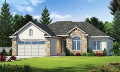 House Plan 66642, Order Code 26WEB | Country European Plan with 1516 Sq. Ft., 3 Bedrooms, 2 Bathrooms, 2 Car Garage