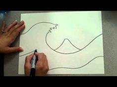 The Great Wave (outline) - YouTube