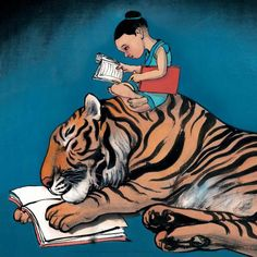 Le Prince Tigre by Chen Jianghong (陈江洪) is a Chinese artist living in Paris .It was born in Tianjin in 1963 . Painter and illustrator, he was trained at the Central Academy of Fine Arts in Beijing.|Book Illustration| On Amazon: https://www.amazon.com/prince-tigre-French-Jiang-Hong/dp/2211086632