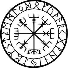 Viking Protection Runes Vegvisir Compass Meval Vinyl Decal Sticker BallzBeatz . com