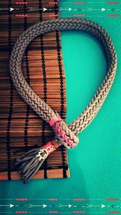 Χειροποίητα κολιέ απο ορειβατικο κορδόνι www.etsy.com/shop/bizeli Handmade Necklaces, Decorating Ideas, Bracelets, Color, Etsy, Jewelry, Jewlery, Jewerly, Colour