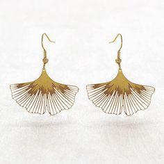 MGE100 Ginkgo Biloba Earrings