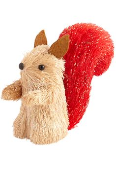 This cute critter's red bushy sisal tail says it all with love. Give Pier 1's Natural Red Tail Squirrel Ornament to a friend or keep him for your own Valentine's Day tree.