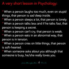 Psychology Facts. I don't know how true this is, but it seems interesting