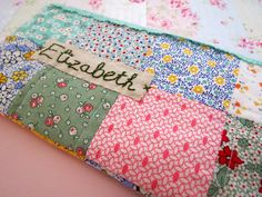 A little crafty pouch.. Cute, cute