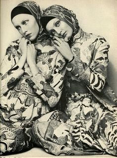 US Vogue February 1, 1972 Models Ingrid Boulting & Unknown