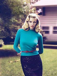 Sweater Girl   US Vogue I September 2010 I Model: Lara Stone I Editor: Grace Coddington I Photographers: Mert Alas & Marcus Piggot.
