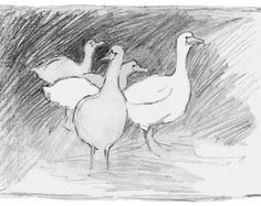 drawing duck – Etsy