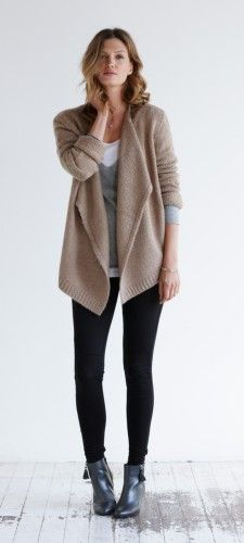 YASMEEN:  an example of solid waterfall cardigan Chunky Waterfall Cardigan