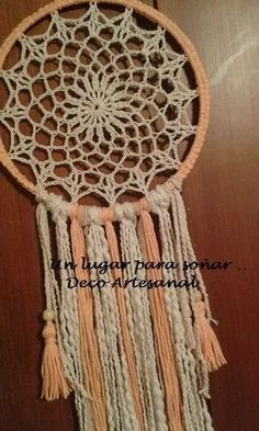 atrapasueños fun diy crafts for couples - Fun Diy Crafts Crochet Mandala Pattern, Doily Patterns, Crochet Patterns, Fun Diy Crafts, Diy Arts And Crafts, Crochet Tablecloth, Crochet Doilies, Lace Dream Catchers, Crochet Dreamcatcher