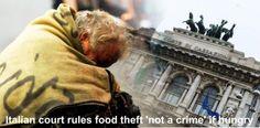 Di Italia Mencuri Makanan Bukanlah Kejahatan