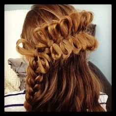 I would never be able to do this so cool mini bows then joined by a braid
