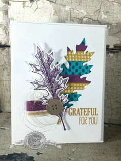 Gratitude, Fall, Handmade, Vintage Leaves Stampin' Up!, Bohemian, Washi Tape, Techniques - StampinByTheSea.com