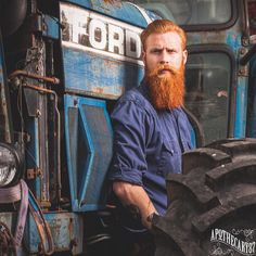 Gwilym Pugh - full thick long red beard beards bearded man men mens' style redhead ginger handsome #beardsforever