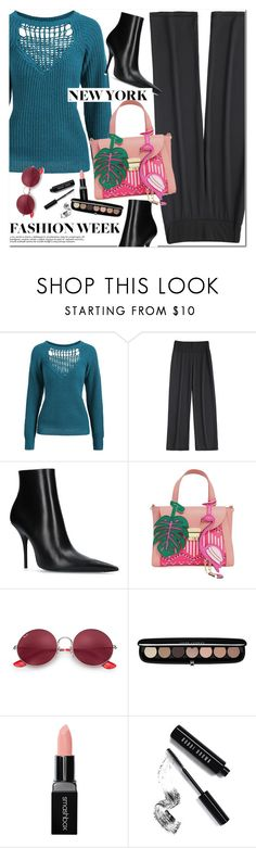 """NYFW"" by oshint ❤ liked on Polyvore featuring Balenciaga, Ray-Ban, Marc Jacobs, Smashbox and Bobbi Brown Cosmetics"