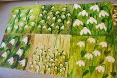 Pavla Richterová: Sněženky Hobbies And Crafts, Diy And Crafts, Crafts For Kids, Arts And Crafts, Spring Art, Spring Crafts, School Art Projects, Art School, Painting For Kids