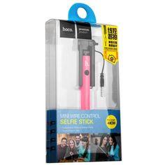 Купить Монопод для селфи HOCO CPH06 Mini Wire control Selfie stick (0.48 м) Pink Розовый, доставка по Москве и всей РФ.
