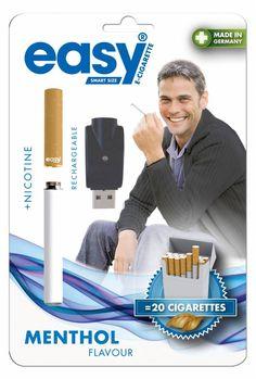 Easy smart size oplaadbare & navulbare E-Sigaret (Menthol smaak met Nicotine) + USB oplader