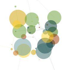 Joshua Davis FaceBook data visualizations / 2011