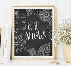 Christmas wall art holiday print instant by LittleEmmasFlowers