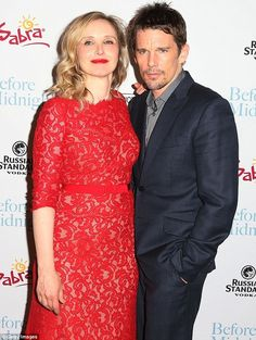 Better together: Julie Delpy and Ethan Hawke attended the premiere of Sony Pictures Classics Before Midnight at the Directors Guild Of America on Tuesday Julie Delpy, Before Midnight, Before Sunrise, Before Trilogy, Ethan Hawke, Celine, Love Story, Actresses, People