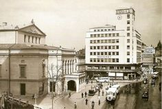 teatrul national theatre old Bucharest vechiul Bucuresti Romania Old Pictures, Old Photos, Little Paris, Bucharest Romania, National Theatre, Film, Time Travel, City Photo, Street View